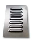 Straight Louver Panel with 7 Louvers